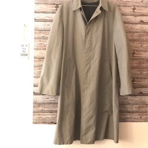 London Fog Men's Button Maincoat Trench Coat